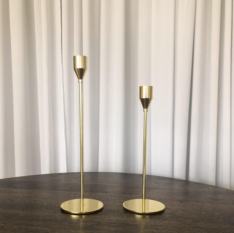 Gold Candle Holder (Lg) - $3