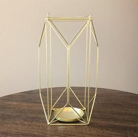 Gold Wire Geo Lantern - $8
