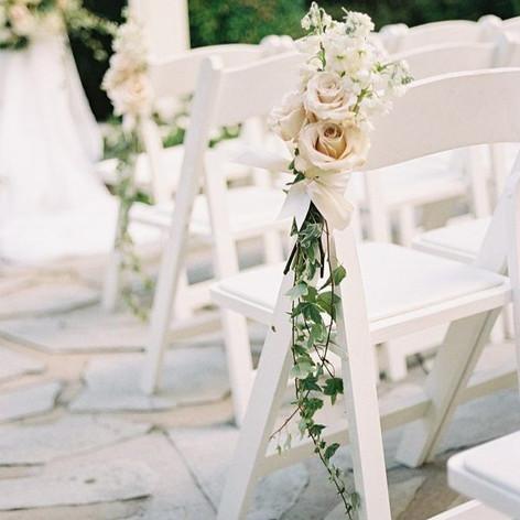 White Folding Chair - $3