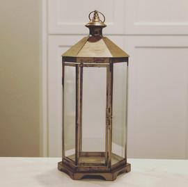 Gold Hexagon Lantern - $12
