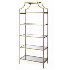 Furniture - Gold 5-Tier Shelf