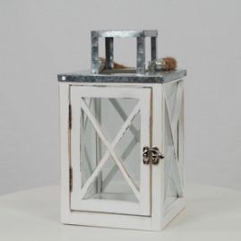 White Farmhouse Lantern - $8