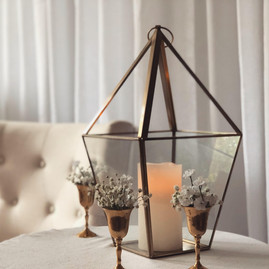 Modern Glass Lantern Medium - $12.00