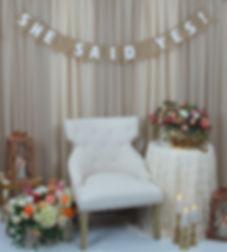 Rustic Bridal Shower Backdrop Package