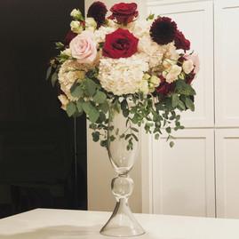 Flared Glass Vase - $15