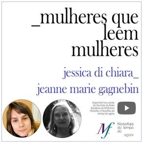 Mulheres que leem mulheres: Jessica Di Chiara lê Jeanne Marie Gagnebin