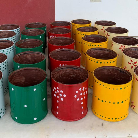 Recycled Metal Cans