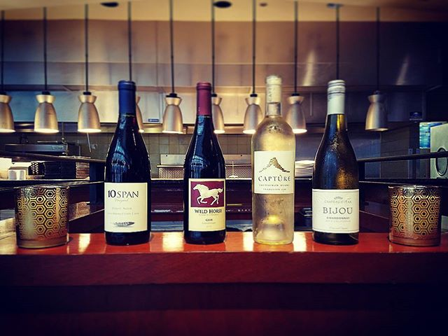 $30 a bottle select glasses of wine tonight to get you to the end of week! #happyhoursp