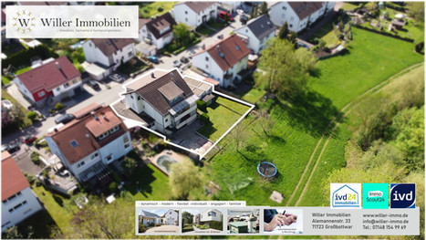 Großzügiges 3-Familienhaus mit Wohnmobilgarage und Garten ins Grüne