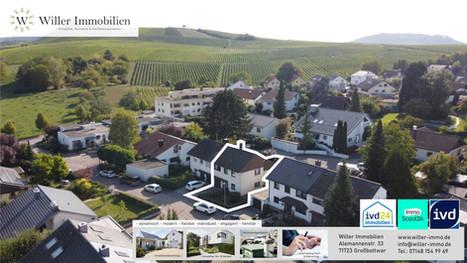Charmante Doppelhaushälfte im Maisonetten-Stil in idyllischer Wohlage.
