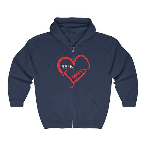 BBSW Love Jesus Heavy Blend™ Full Zip Hooded Sweatshirt
