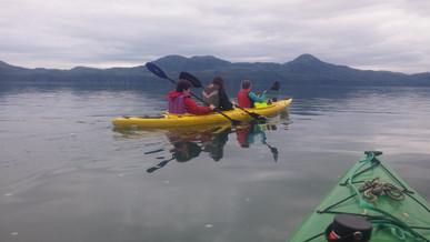kayaking orca inlet