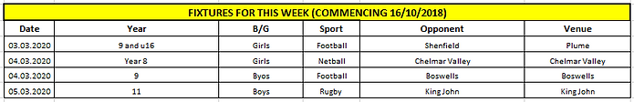Fixtures for this week 28022020.png