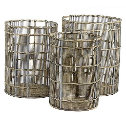Set de 3 Paniers Bambous