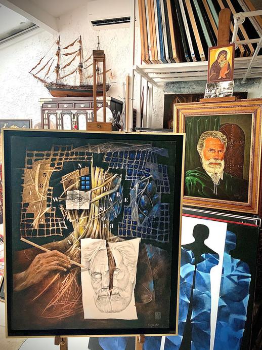 Vue de l'atelier de l'artiste