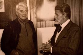 Avec Jean Marais au Salon d'Automne