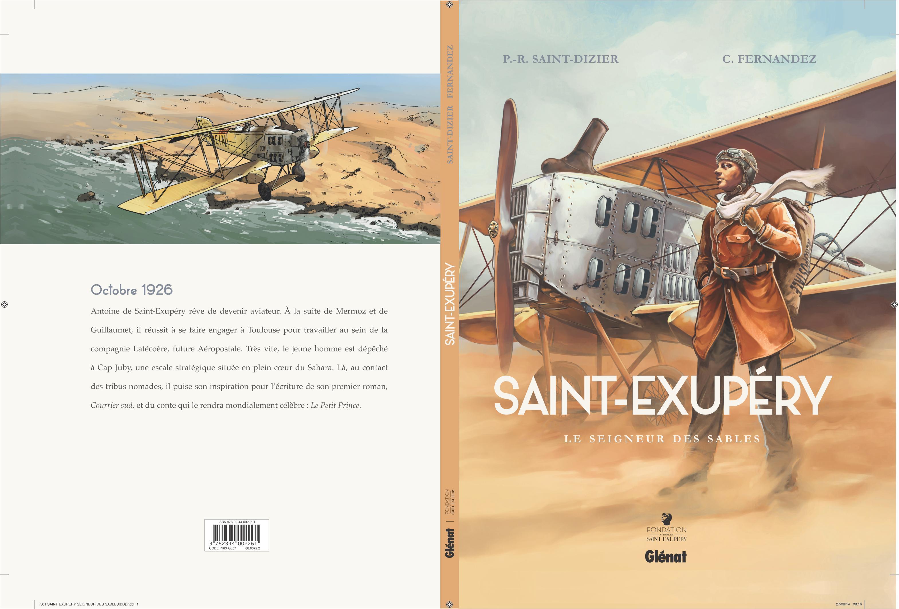 St-Exupéry tome 1 Le seigneur des sables - couverture