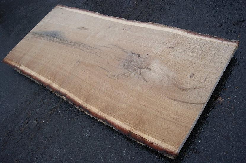 Eichenbohle 98x230cm mit Spinnenmaserung und Splitter