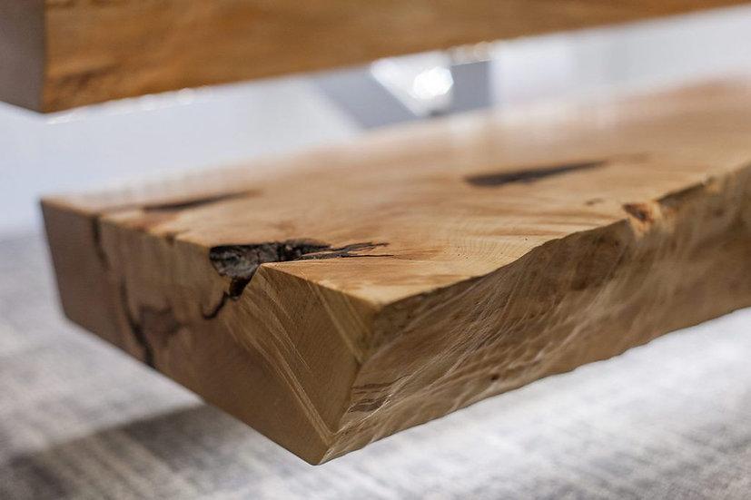 Rustikale Eichenholz Stufe Natur