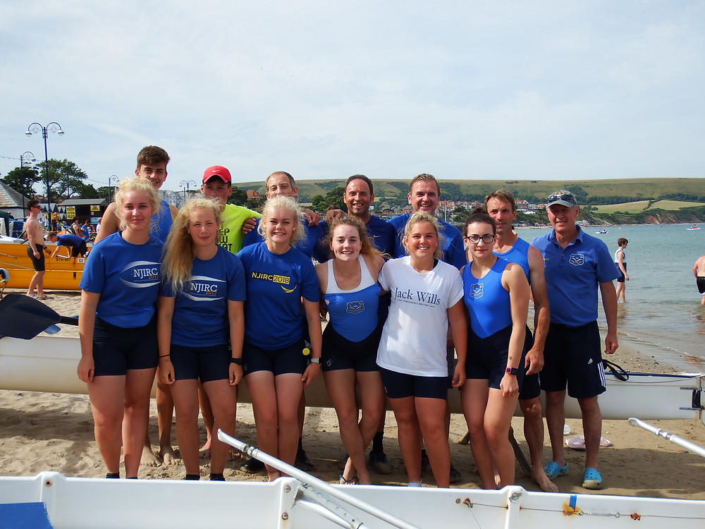 It was an early start for Shanklin yesterday as they travelled down to Swanage for the 8th HDARA regatta of the season. Nevertheless, 4 of the 8 crews entered earned a win in their categories.    First on the water was the J16 mixed quad of Rachael Debenham, Sophie Atkin, Riley Horrix, Ethan Walters and Emily Faithfull (cox) who rowed well together to win their final, also beating the J16 boys fours and quads, picking up Shanklin's first victory of the day. Next up was the J16 girls four of Rachael Debenham, Lottie Tapsell, Yasmin Wright, Sophie Atkin and Emily Faithfull (cox) who had a tough race but rowed strongly to take a narrow win over a crew from Lymington. Riley Horrix rowed well in the J16 boys single sculls to take another win for the club in a six boat final.    In the Men's novice four, the crew of Kevin Faithfull, Paul Gamble, Martin Berry, Andrew Tapsell and Ethan Walters (cox) had their best row yet to finish 6th in their final. The crew were also back out on the water to race in the Masters 40 category where they came 4th in their heat, missing out on a spot in the final. In the Ladies Senior Pairs, Daisy and Emily Faithfull came 1st in their heat, qualifying for the final where they took another victory in the category, bringing in Shanklin's 4th win of the day.     The last race of the day was a mixed fours event where Shanklin had two crews entered. The crew of Sophie Atkin, Riley Horrix, Ethan Walters, Daisy Faithfull and Emily Faithfull (cox) had a good row to finished 2nd behind winners Itchen and the crew of Kevin Faithfull, Lottie Tapsell, Yasmin Wright, Andrew Tapsell and Emily Oatley (cox) rowed well to finish 6th just behind Itchen's second crew.    After a successful day at Swanage we look forward to racing next week at Poole.