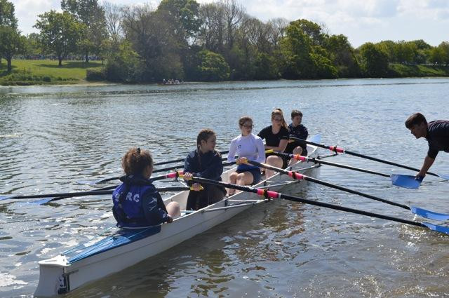 A great day at Newport RC to give less experienced rowers a chance to race.