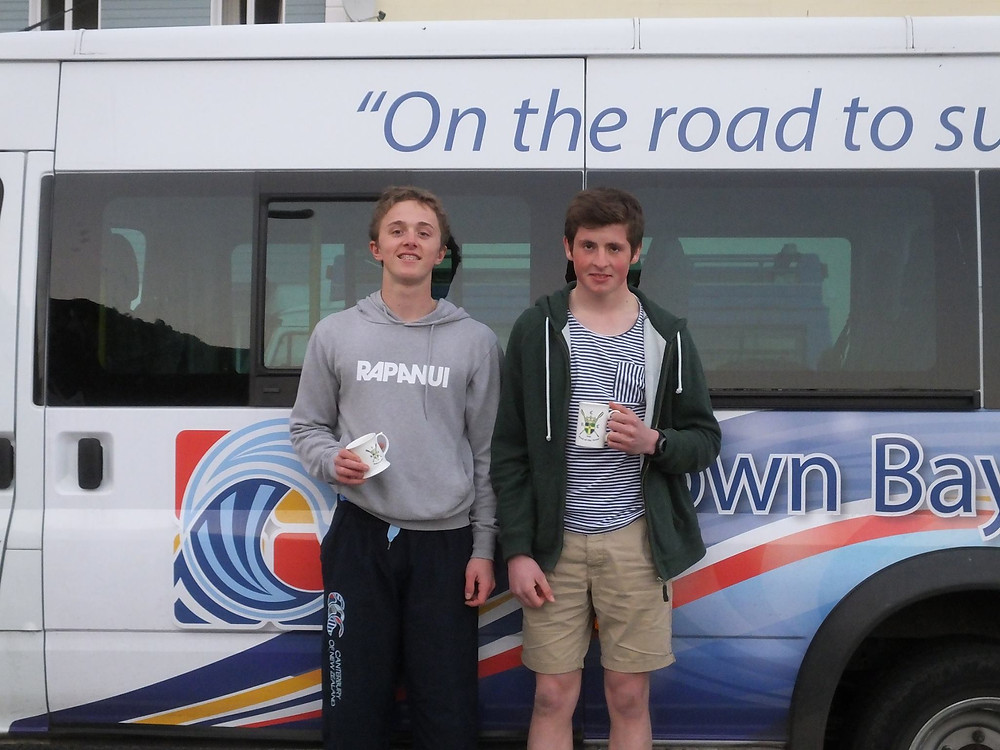 Alex Robertson and Harry Miselbach with their prizes.