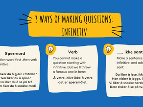How to make full use of your questions in norwegian! The best advice for variation