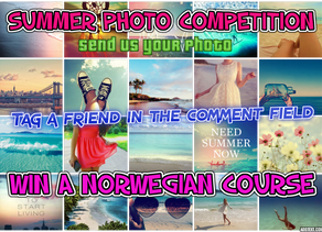 SUMMER PHOTO COMPETITION:WIN A NORWEGIAN COURSE WORTH 3600 kr