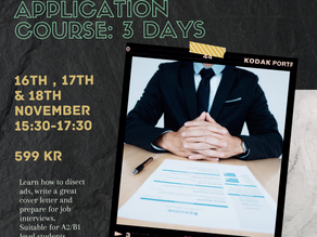 Learn how to write a winning cover letter in Norwegian: Welcome to the job application course