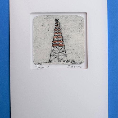 Beacon- unique etched card
