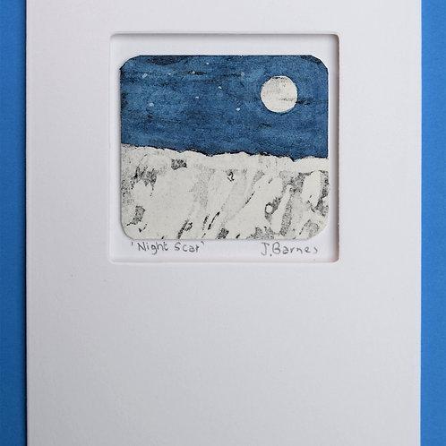 Night Scar - unique etched card