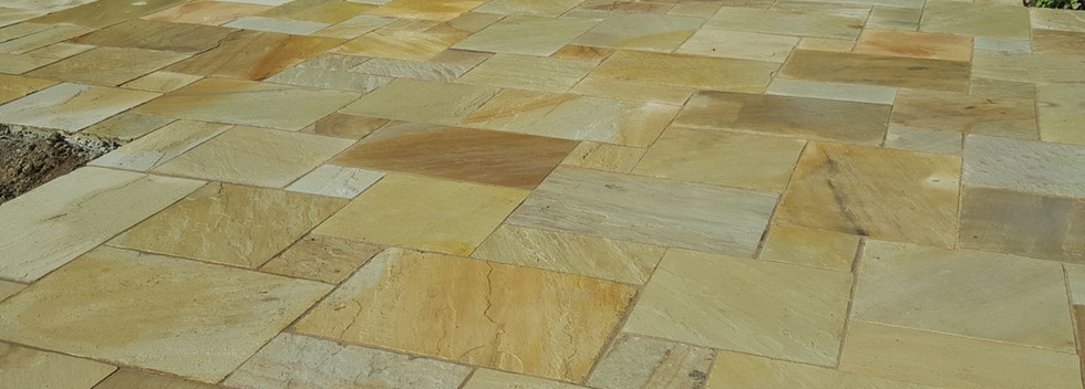 fossil buff natural sandstone patio
