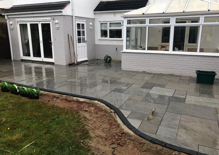 Silver grey indain sandstone patio