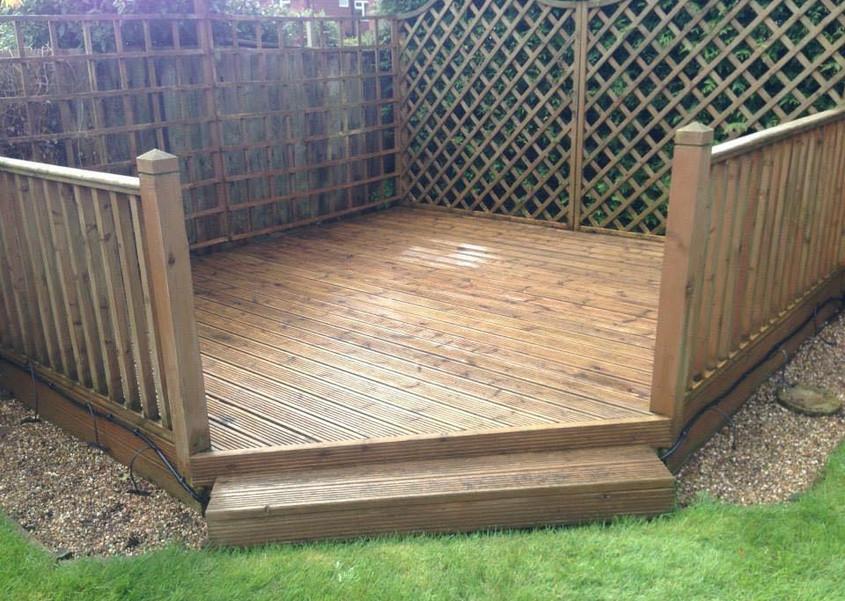 Timber decking area