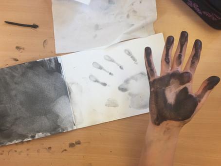Malen mit Kohle