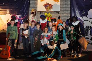 Optreden van aspirantleden bij Sinterklaas