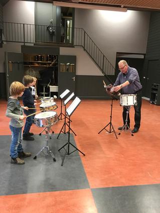 """Dylano, Guus, Thijs en Kay gaan door met """"Drumexperience"""""""