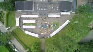 Buitenrommelmarkt Balgoy vanuit de lucht gezien