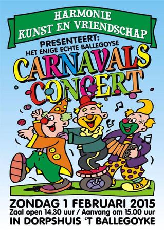 Carnavalsconcert op 1 februari