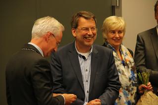 Zilveren Draagspeld van gemeente Wijchen voor voorzitter Piet van Erp