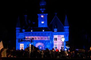 Optreden KeV samen met andere muziekverenigingen tijdens Kerst Sprookjesfestijn Wijchen