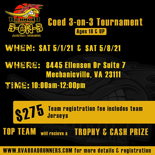Coed 3-on-3 Basketball Tournament