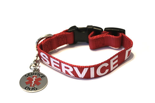 Service Dog Collar with Service Dog Tag