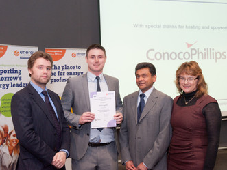 Sponsored Student wins Top Energy Institute Award