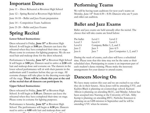 June 2021 Newsletter & Exam Schedule