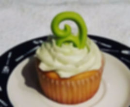 Coconut Cupcake with Keylime Frosting.._