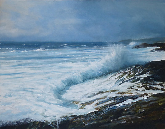 A Stormy Day at Rhosneigr - Anglesey - Welsh Seascape