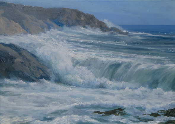Wild Surf near Aberffraw - Limited Edition Print