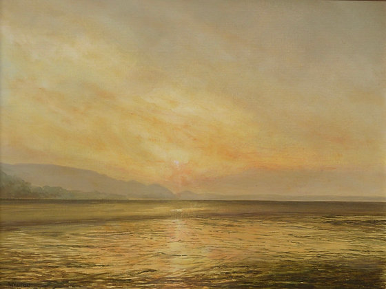 Sunset at Red Wharf Bay, Anglesey, Landscape - North Wales