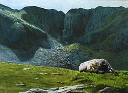 Cwm Idwal Snowdonia Devils Kitchen, Welsh Art, Paintings of snowdonia, Landscapes Wales,